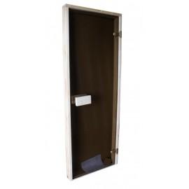 Drzwi osika Classic 69x189 szyba brąz