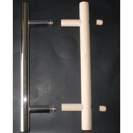 Klamka EL - drewno-stal