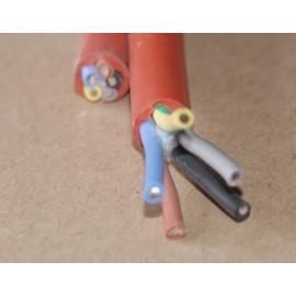 kabel przewód silikonowy - 5 x 0,75 mm2