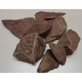 Kamienie do sauny - Kwarcyt Czrewony - 20 kg - 5-15 cm