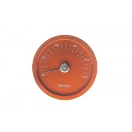 Termometr aluminiowy RENTO pomarańczowy