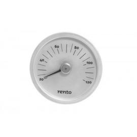 Termometr aluminiowy Rento naturalny