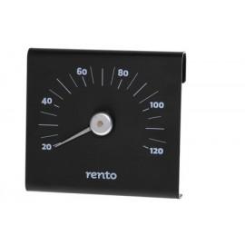 Aluminiowy termometr RENTO czarny