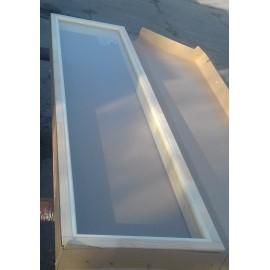 Okno 5x19 - 490 x 1890 - sosna - brąz