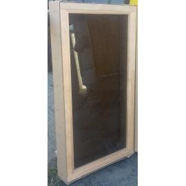 Okno 5x9 - 490 x 890 - osika termo - brąz
