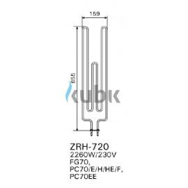 Grzałka Harvia ZRH-720 - 2260W