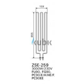 Grzałka Harvia ZSE-259 - 3000 W