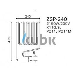 Grzałka Harvia ZSP 240 - 2150 W