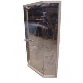 Drzwi szklane - Wejście narożne szklane
