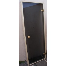 Drzwi szklane - Trend 7x19 - sosna 69x189 cm - szare