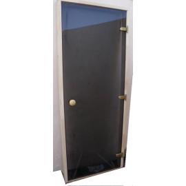Drzwi szklane - Trend 9x20 - sosna 89x199 cm - szare