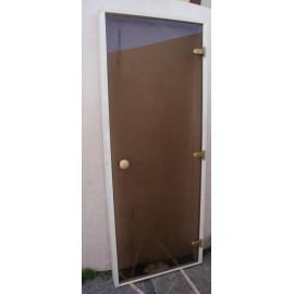 Drzwi szklane - Trend 8x20 - osika 79x199 cm - brąz