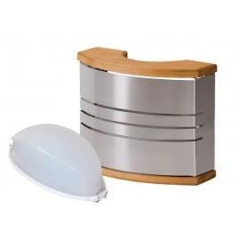 lampa do sauny Harvia + osłona steel