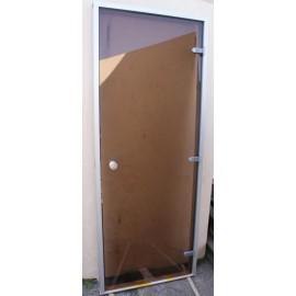 Drzwi do łaźni parowej 8x20 - 79x199 cm - brąz