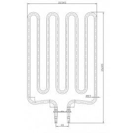 grzałka Sawo HP01-004 - MN180 - 1,80 kW