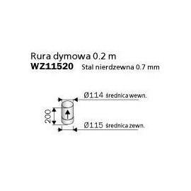 rura dymowa 200mm - Harvia WZ11520