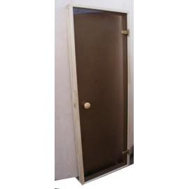Drzwi szklane - Trend 7x19 - sosna 69x189 cm - brąz