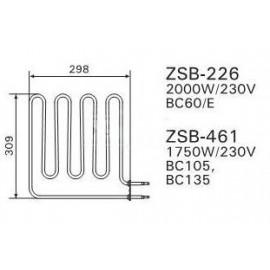 grzałka Harvia ZSB-226 - 2,0 kW