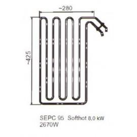 grzałka SEPC 95 - 2,67 kW