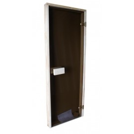 Drzwi szklane - Classic 7x19 - sosna 69x189 cm - brąz