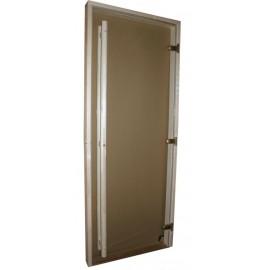 Drzwi szklane - Exclusive 8x20 - osika 79x199 cm - brąz