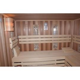 Sauna cedrowa typu combi - sucha + mokra + infared