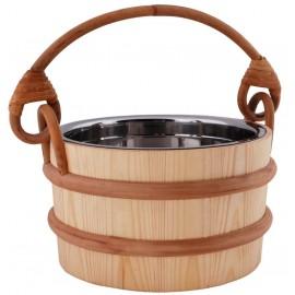 Ceber drewniany Sawo wkład metalowy - 3 L